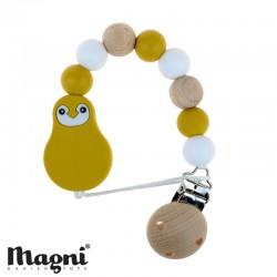 MAGNI, Suttekæde, Gul/hvid/træ