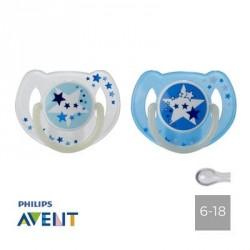 PHILIPS AVENT 6-18,NATSUT,Symmetrisk - Silikone
