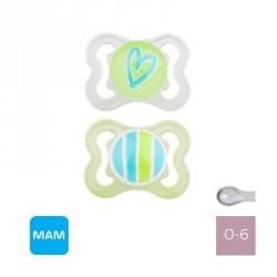 MAM AIR 0-6 M,Symmetrisk sut - Silikone