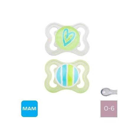 MAM AIR 0-6,Symmetrisk - Silikone