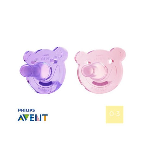 PHILIPS AVENT 0-3, Soothie Shapes Girl, Rund
