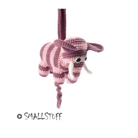 SMALLSTUFF - Hæklet musikuro, Elefant