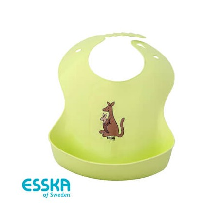ESSKA - Hagesmæk, Kænguru mor & unge, Grøn