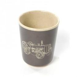Bambus melamin, kop uden hank, mørkegrå køretøjer