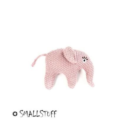 Smallstuff, strikket elefant, rangle, pudder