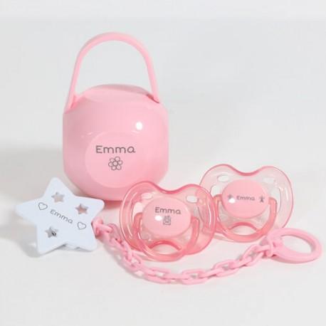 Gavepakke i lyserød til pige, 0-6 måneder