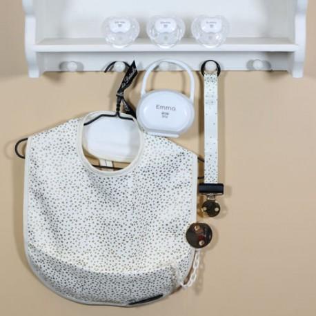 Image of Gavepakke med flot hagesmæk fra elodie details, baby-nova deluxe 0-6, anatomisk - silikone