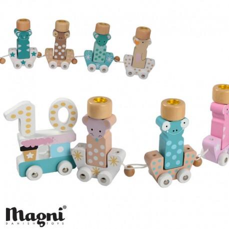 Image of Magni, fødselsdagstog, dyr