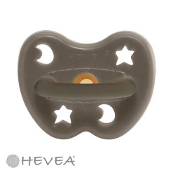 HEVEA, Anatomisk - Naturgummi, Star & Moon - Shiitake Grey / Str. 0-3 mdr.