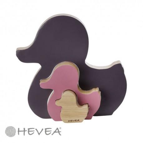 Image of Puslespil fra hevea, naturgummi, kawan shape sorter, ametyst