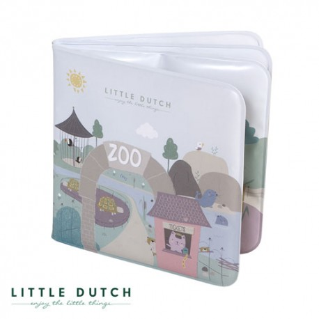 Image of Little dutch, badebog, motiver fra zoo - støvet blå og mint