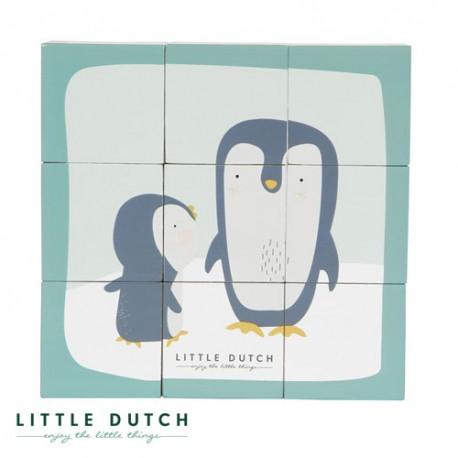 Image of Little dutch, puslespil, motiver fra zoo - støvet blå og mint