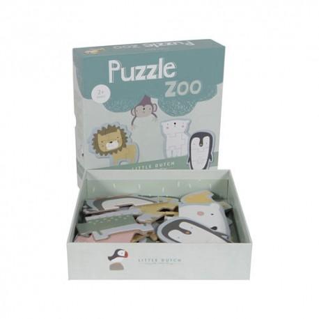 LITTLE DUTCH, Puzzle amusant - Dusty blue et menthe