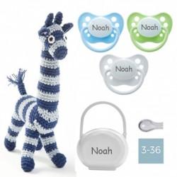 Coffret cadeau - Girafe en crochet - Garçon