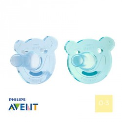 PHILIPS AVENT 0-3, Soothie Shapes Garçon, Ronde