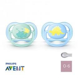 Philips Avent 0-6,Ultra Air Blue,Symmetrisk - Silikone