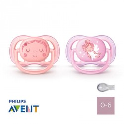 Philips Avent 0-6,Ultra Air Pink, Anatomique - Silicone