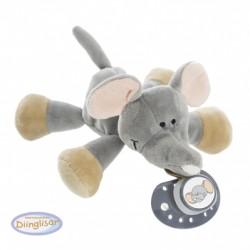 DIINGLISAR - Nounours, Avec attache-tétine, Éléphant