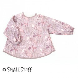 SMALLSTUFF - Tablier à manches, Animal rose