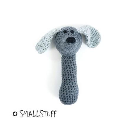 SMALLSTUFF - Maracas au crochet, Chien, Gris