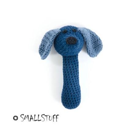 SMALLSTUFF - Maracas au crochet, Chien, Bleu
