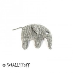 SMALLSTUFF,Strikket elefant, Rangle, Grå