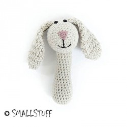 SMALLSTUFF - Maracas au crochet, Lapin, Nature