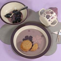 SMALLSTUFF, Assiette plate, Rose / Fleur, Bambou
