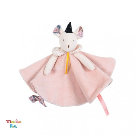 Doudou, souris rose, Moulin Roty