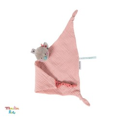 MOULIN ROTY, Doudou en mousseline - Rose