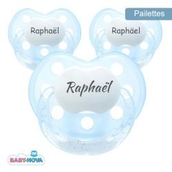 BABY-NOVA 3-36, Tétine paillettes,Physiologique - Silicone