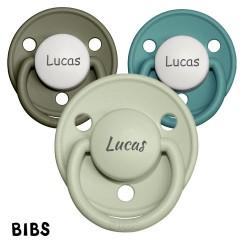 Bibs De Lux 3-36, Ronde, Silicone