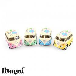 MAGNI, VW Volkswagen mini Bus, Schattig stickerontwerp