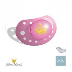 Elodie Details sut - 3-36,Petit Royal Pink,Anatomisk-Silikone