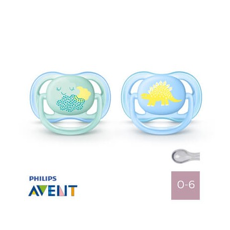Philips Avent 0-6,Ultra Air Blue,Symmetrisk - Silikone