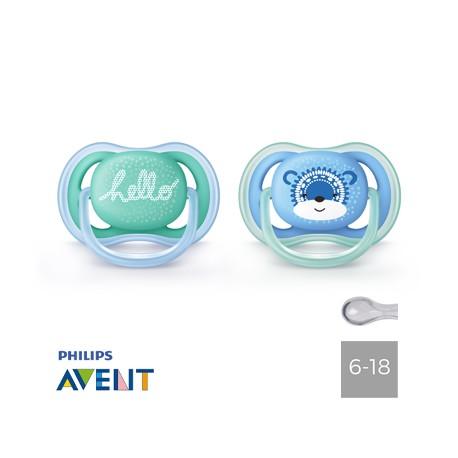 Philips Avent 6-18,Ultra Air Hallo,Symmetrisk - Silikone