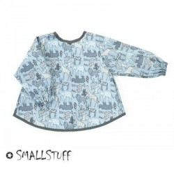 SMALLSTUFF - Forklæde, Dyr, Blå