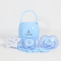 Geschenkdoos in blauw voor jongens,0-6 maanden