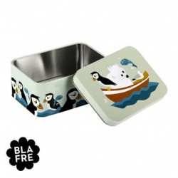 BLAFRE, Blik Lunchbox,  Atlantische papegaaiduiker en ijsbeer