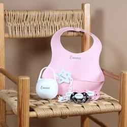Geschenkdoos voor meisje,  met slabbetje, 3-36 maanden