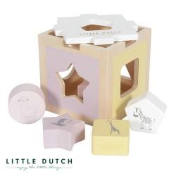 LITTLE DUTCH, Sorteerbox, Stoffig roze