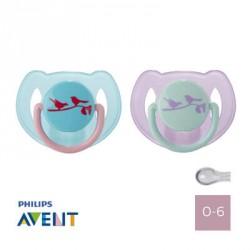 PHILIPS AVENT 0-6,Symmetrisk - Silikone