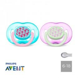 PHILIPS AVENT 6-18,Symmetrisk - Silikone