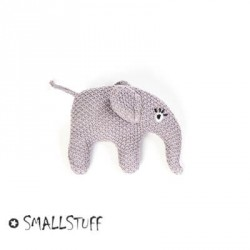 SMALLSTUFF, Strikket elefant, Rangle, Blå Rosa