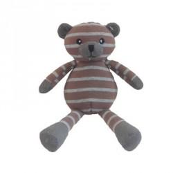 Teddybjørn, Brun/grå med striper