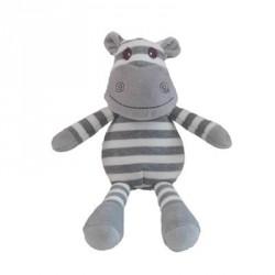 Teddy, Flodhest, Hvit/Grå striper