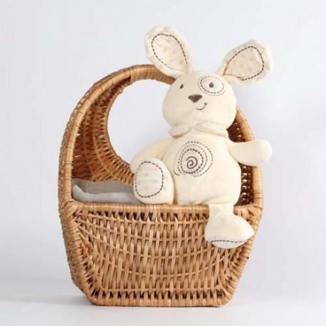 Teddybjørn, økologisk, hvit