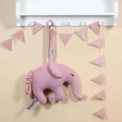 SMALLSTUFF, Musikkuro, Elefant strikket, Rosa