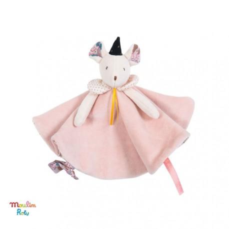 Sutteklud lyserød mus, Moulin Roty