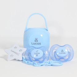Blå gavepakke til dreng, 0-6 måneder